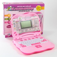 Развивающая игрушка Детский обучающий компьютер, (розовый)