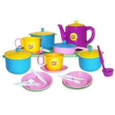 Пластмассовые игрушки Набор посуды. Обед