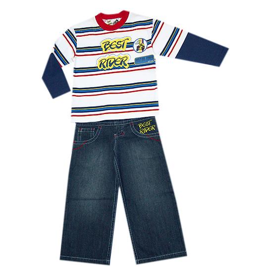 Комплект: брюки джинс., толстовка Wojcik 92-122 см