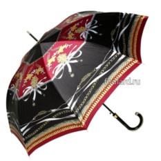 Черный зонт с разноцветными принтами Emme H Nero