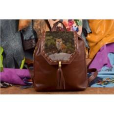 Женский рюкзак с принтом Лиса в лесу