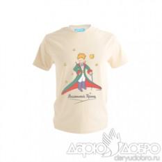 Детская экрю футболка Маленький Принц со шпагой