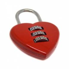 Кодовый замочек на багаж Сердце