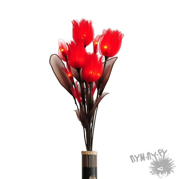 Светильник Цветки красного тюльпана