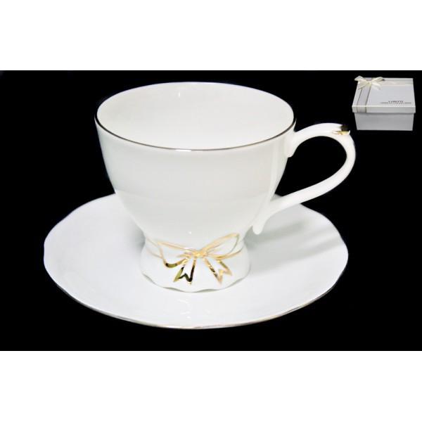 Чашка с блюдцем в подарочной упаковке, фарфор