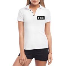 Женская футболка polo Хэштег Игорь