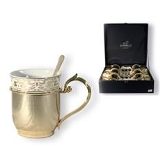 Набор кружек для чая Золотой муар на 6 персон