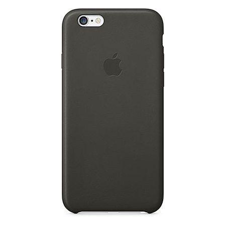 Черный кожаный чехол для Apple iPhone 6