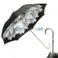 Женский зонт-трость Pasotti Bicolore Georgin Grigio Nicel