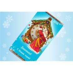 Именная шоколадная открытка «Счастливые часы»