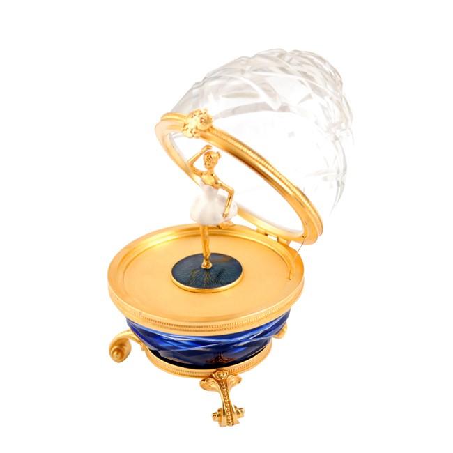 Яйцо Балерина прозрачное с синим