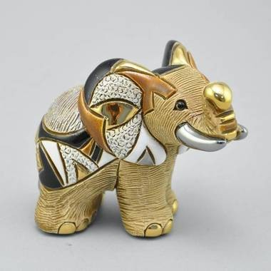 Керамическая статуэтка с позолотой Африканская слониха