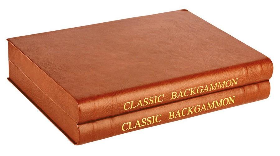 Нарды в кожаном кейсе в виде двухтомного издания книги