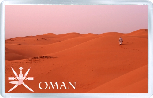 Сувенирный магнит на холодильник: Оман. Пустыня