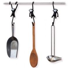 Черные кухонные крючки Just hanging (3 штуки)