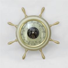 Барометр Штурвал. Цвет — эмаль с платиной