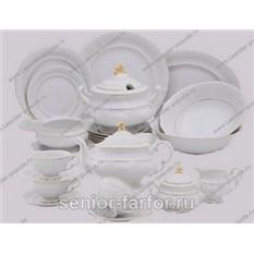 Чайно-столовый сервиз серии Соната, белый