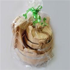 Подарочный набор Сибирский банный из кедра Богатый
