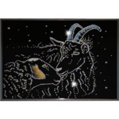 Картина с кристаллами Swarovski Овечка и козел