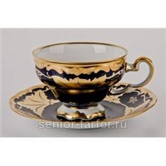 Набор для чая Weimar Porzellan (Кленовый лист синий)