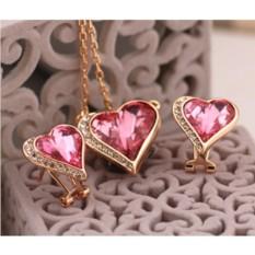 Комплект с кристаллами Сваровски «Влюбленные сердца»