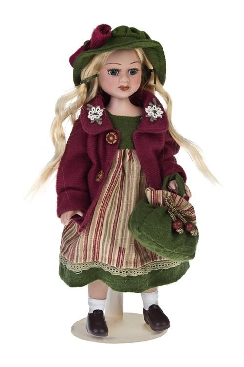Фарфоровая кукла Веселая златовласка