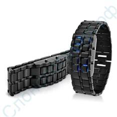 Диодные LED часы-браслет Самурай