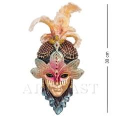 Венецианская маска Стрекоза (цвет: сине-золотой)