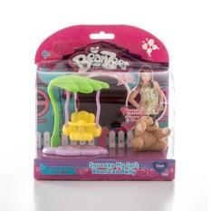 Игровой набор Beanzeez Плюшевая собачка на качелях