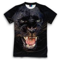 Мужская футболка 3D с полной запечаткой Пантера