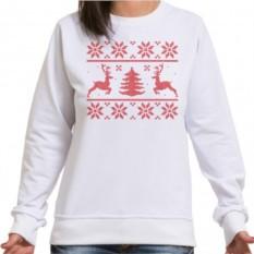 Женский свитшот с новогодней вышивкой