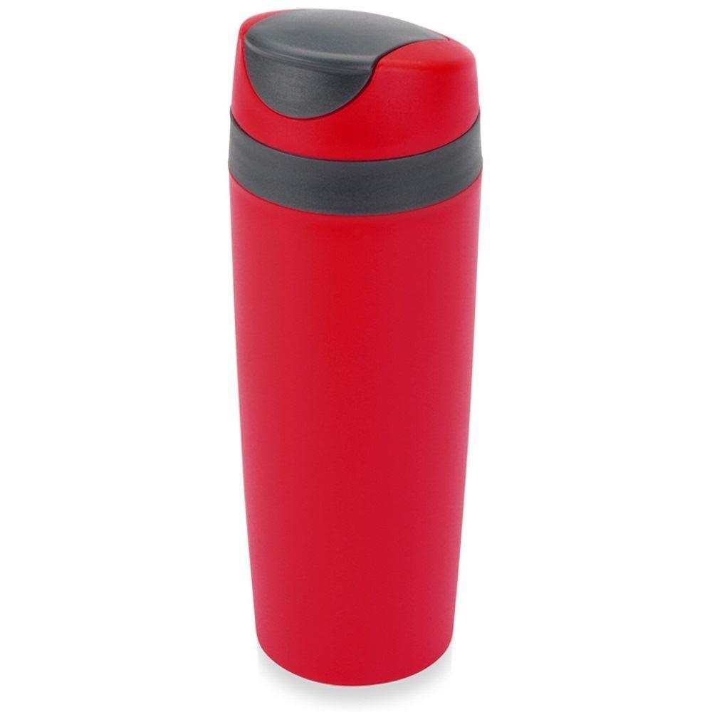 Розовая термокружка с клапаном для питья Лайт
