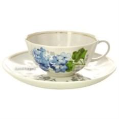 Фарфоровый чайный сервиз на 6 персон Голубая герань