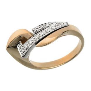 Кольцо с 12-ю бриллиантами