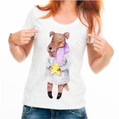Женская футболка Собачка в шубе