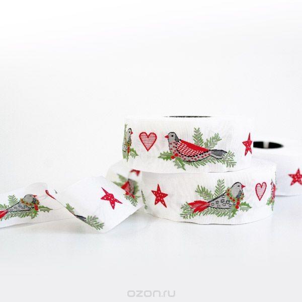 Декоративная тесьма Рождественские птицы