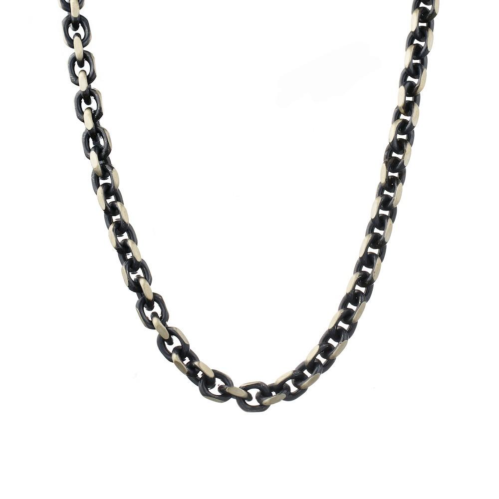 Черненная серебряная цепь с палладиевым покрытием