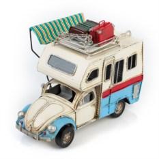 Ретро-модель Бело-голубой фургон с фоторамкой