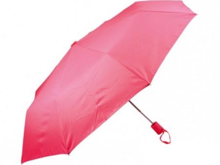 Розовый складной автоматический зонт «Ева»