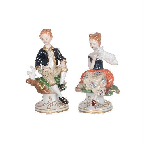 Комплект статуэток Мальчик и девочка