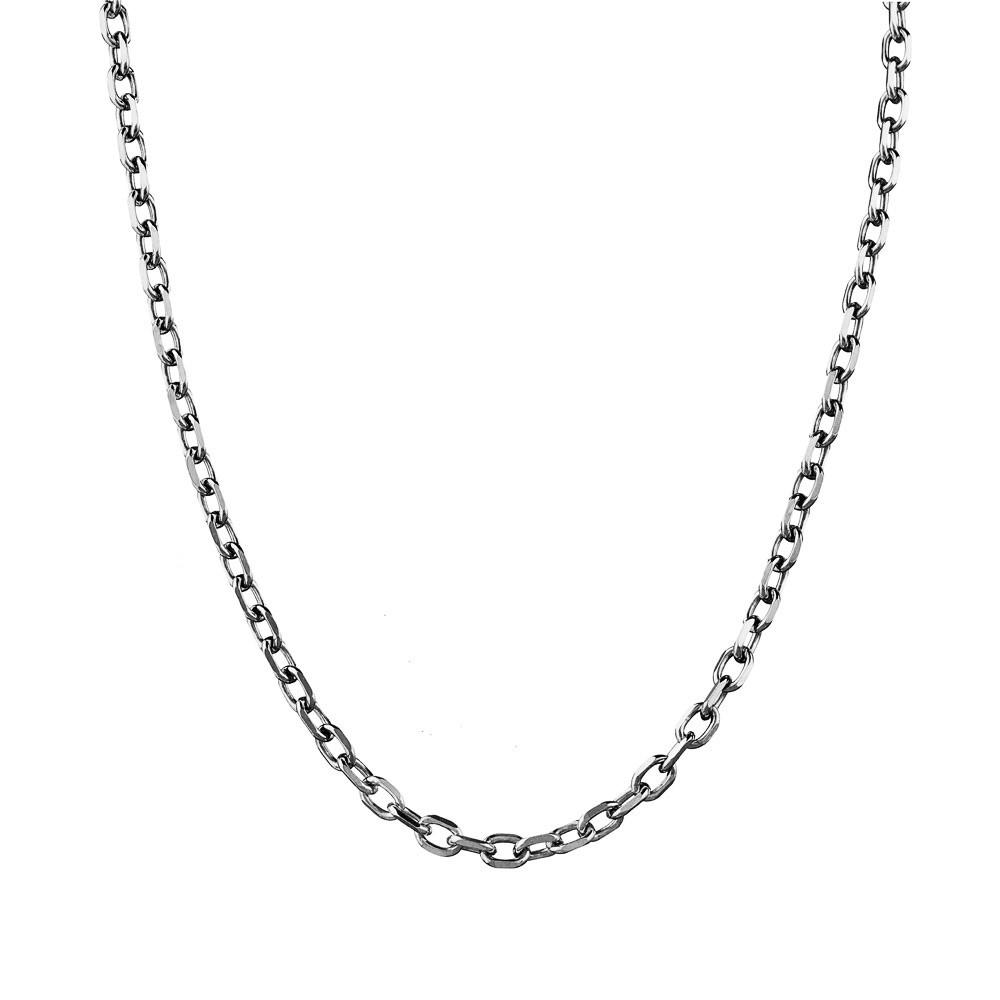 Серебряная мужская цепь Якорная