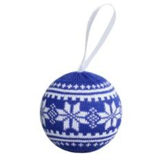 Новогодний шар «Скандик» (цвет — синий)