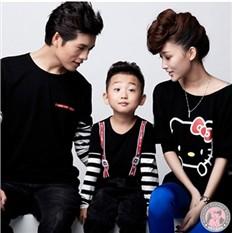 Семейные футболки Hello Kitty для родителей и сына