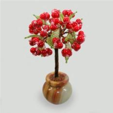 Дерево из коралла Хатор в стиле Кантри в вазочке из оникса