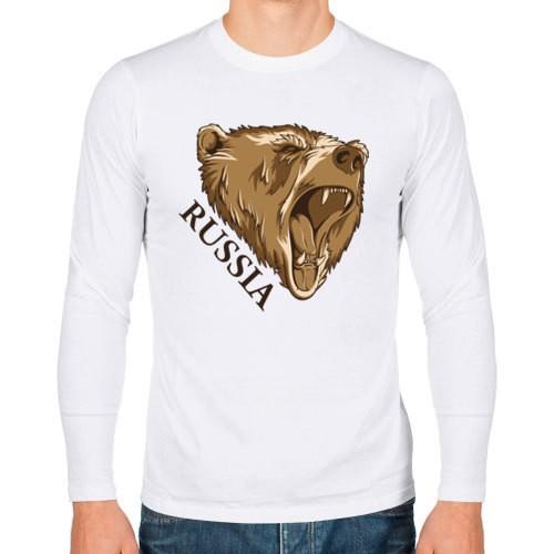 Мужская футболка с длинным рукавом Russia Bear