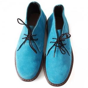 Ботинки светло-синие