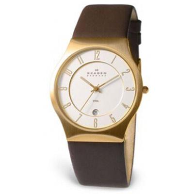 Мужские наручные часы Skagen Leather