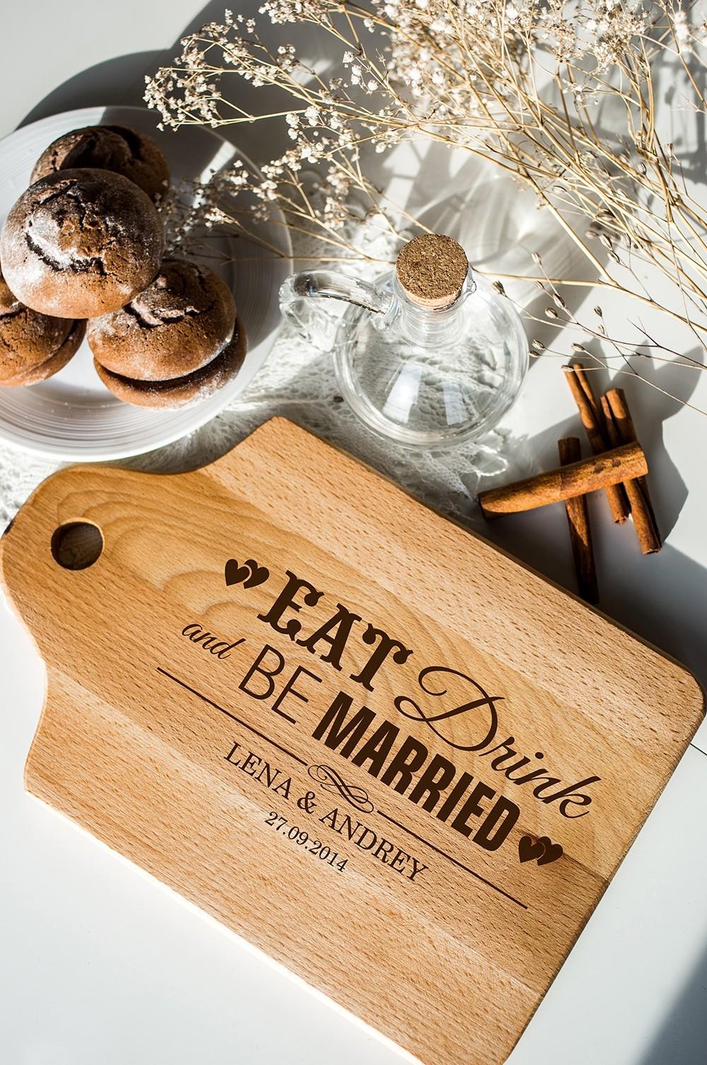 Разделочная доска с вашим текстом Be Married