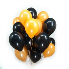 Черные и оранжевые шарики