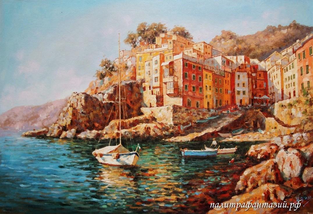 Картина Прибрежный городок